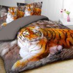 Новые комплекты постельного белья с тиграми в postel-classy.ru
